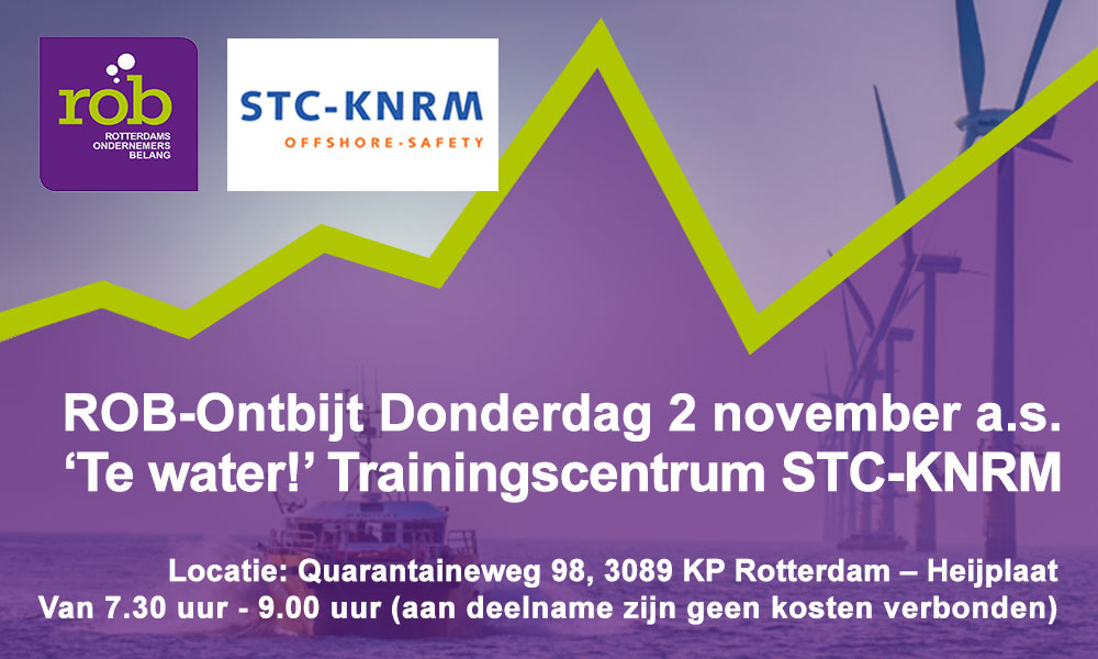 ROB-Ontbijt Do. 2 november a.s. 'Te water! Offshore trainingscentrum STC-KNRM