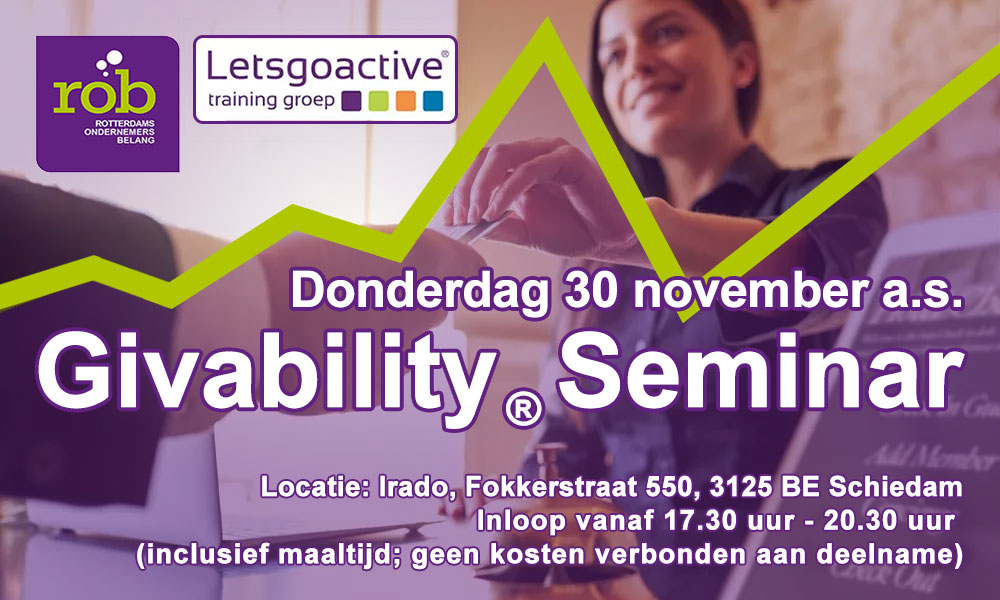Training Giveablity bij het Rotterdams Ondernemersbelang
