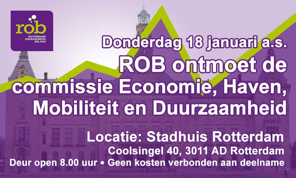 Donderdag 18 januari 2018: Ontbijt in Stadhuis Rotterdam met de cie. Economie, Haven, Mobiliteit, Duurzaamheid