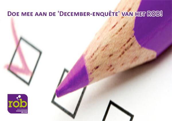 Doe mee aan de December-enquete  van het ROB