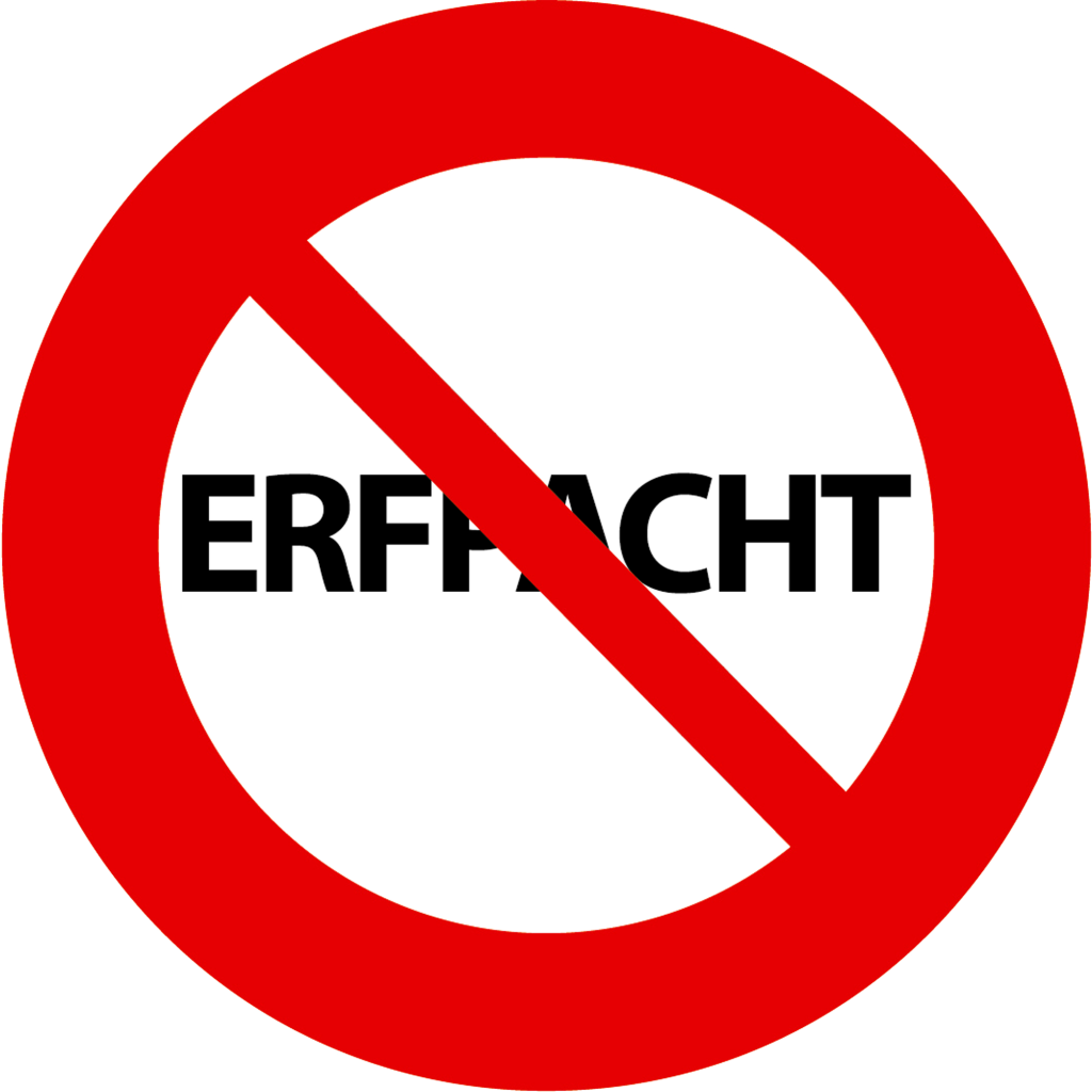 Erfpacht-verbodsbord