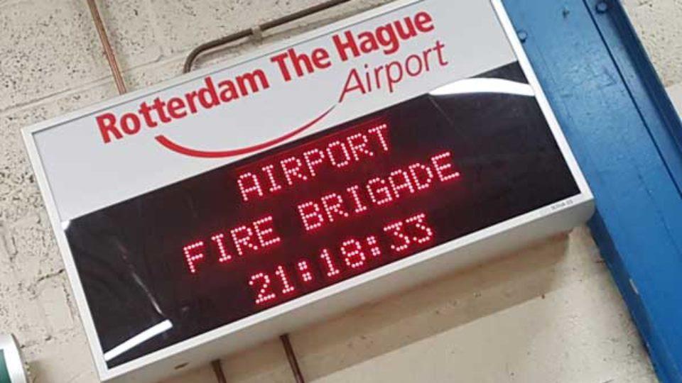 Beeldverslag van bezoek van het ROB aan Rotterdam-The Hague Airport op 18 oktober 2018 (met video)