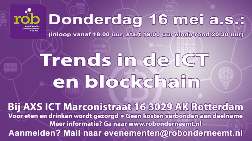 Donderdag 16 mei 2019 – ROB-Avond – Trends in de ICT en blockchain bij AXS ICT