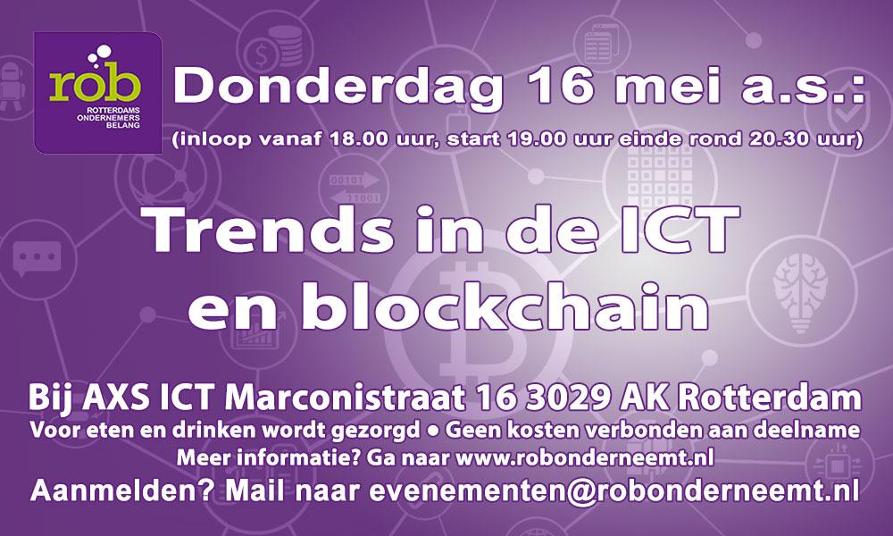 Donderdag 16 mei 2019 - ROB-Avond - Trends in de ICT en blockchain bij AXS ICT