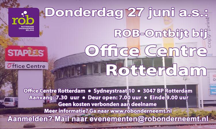 27 juni 2019 ROB-Ontbijt Office Centre Rotterdam Sydneystraat 10, Rotterdam