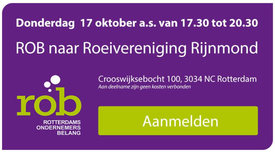 Do. 17 okt. a.s.: ROB naar RV Rijnmond,  Crooswijksebocht 100 in Rotterdam