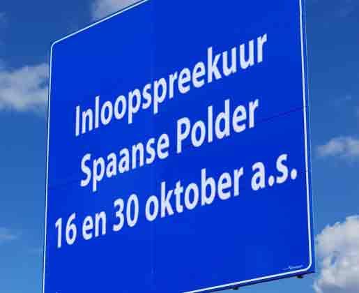 Spaanse Polder inloopspreekuur ondernemers op 16 en 30 oktober a.s.