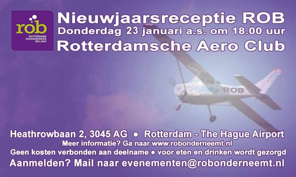 Do. 23 januari 2020 a.s.: Nieuwjaarsreceptie ROB en ALV bij RAC op Rotterdam – The Hague Airport – 18.00 uur