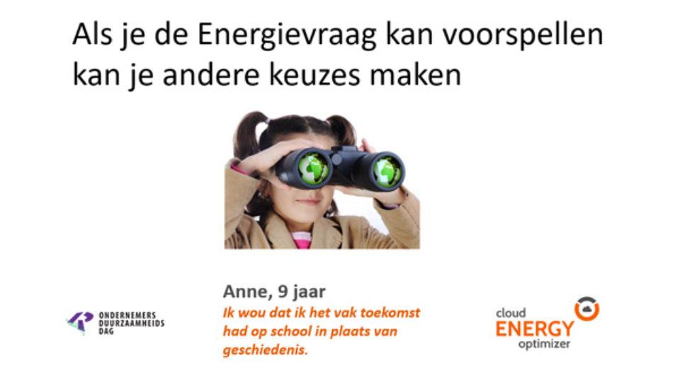 Cloud Energy Optimizer, duurzaam gebouwenbeheer op de Ondernemersduurzaamheidsdag op 6 februari a.s.