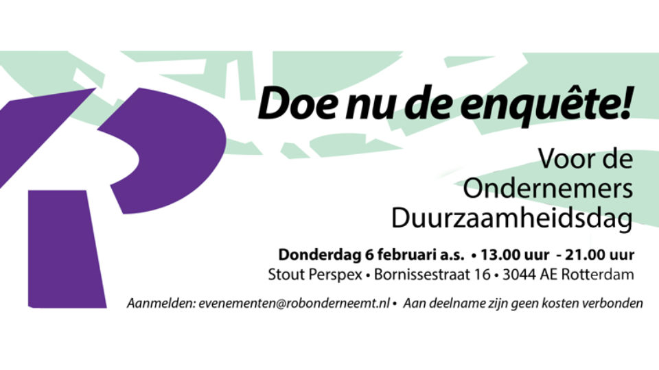 Doe nu mee aan de enquête voor de Ondernemersduurzaamheidsdag op donderdag 6 februari a.s.