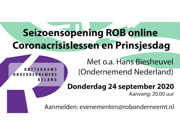 eizoensopening Online over Coronacrisislessen en Prinsjesdag