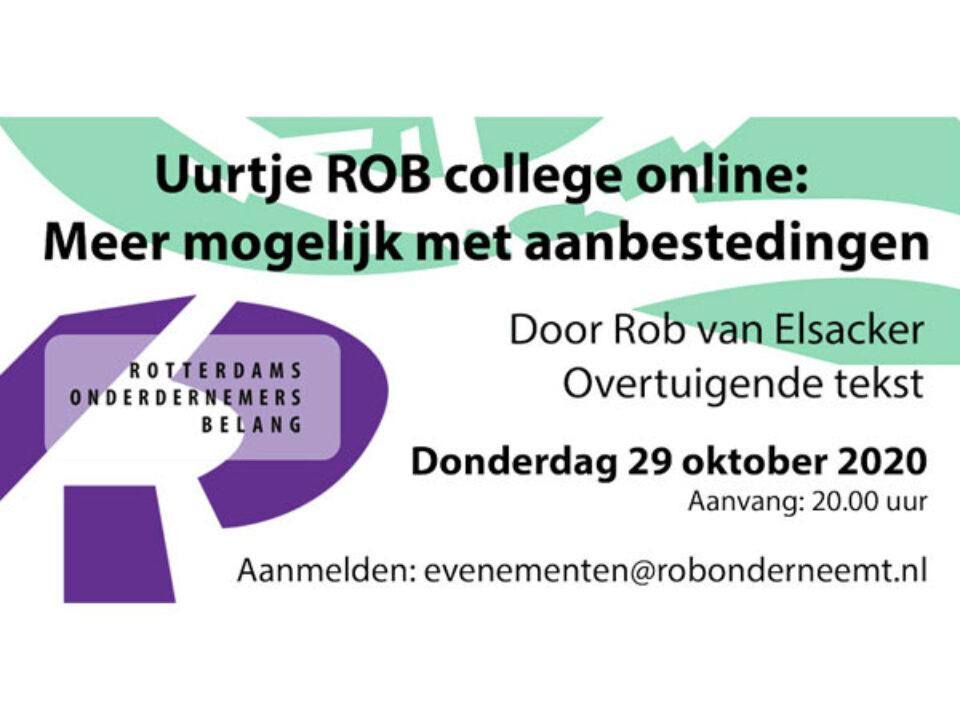 Do. 29 oktober a.s. – Uurtje ROB college online: Meer mogelijk met aanbestedingen
