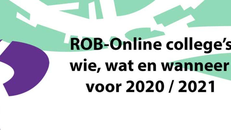 Uurtje ROB Online: wie, wat en wanneer voor 2020 / 2021