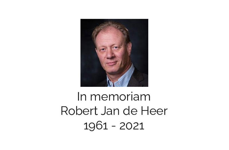 In memoriam: Robert Jan de Heer