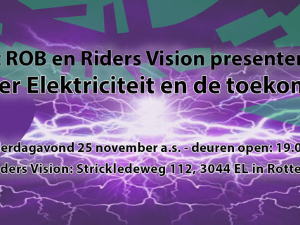 Donderdag 25 november a.s.: Over elektriciteit en de toekomst (vanaf 19.00 uur)